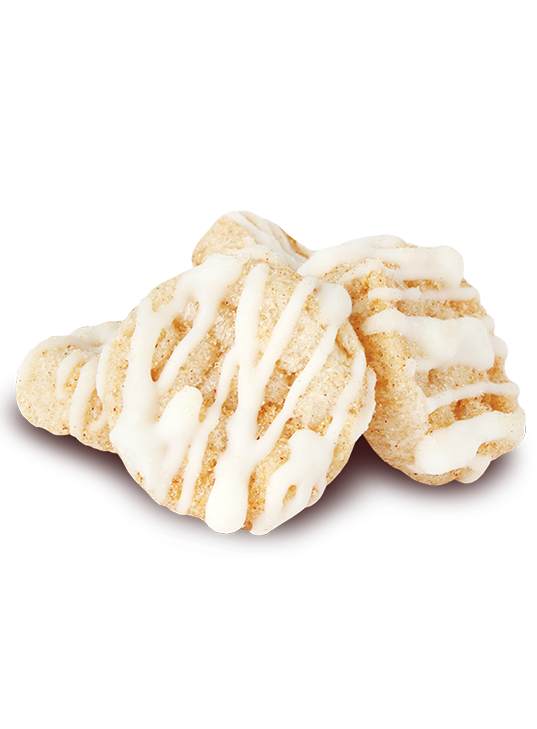 Drizzilicious Cinnamon Swirl Rice Cake stack - mini rice cakes