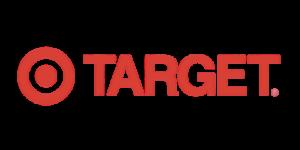 Amazon now at Target, target logo