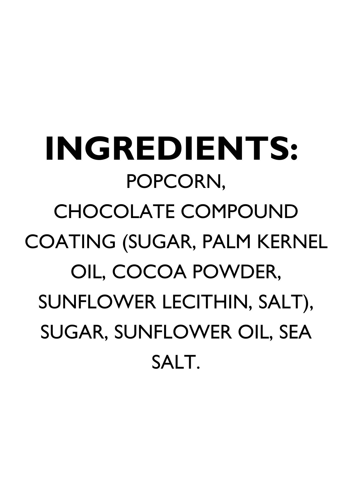 Cocoa Popcorn Ingredients